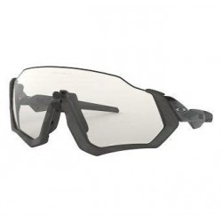 OAKLEY FLIGHT JACKET STEEL BLACK / CLEAR BLACK IRIDIUM PHOTOC